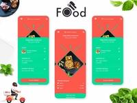 Foody mobile app design Ui Kit PSD