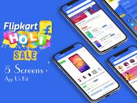 Flipkart Redesign Mobile app UI KIt psd