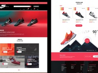 New Adidas landing page for E-Commerce