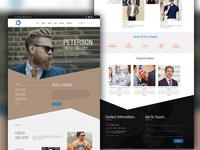 Fashion Landing Home Page PSD