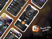 New Music design app ui concept PSD