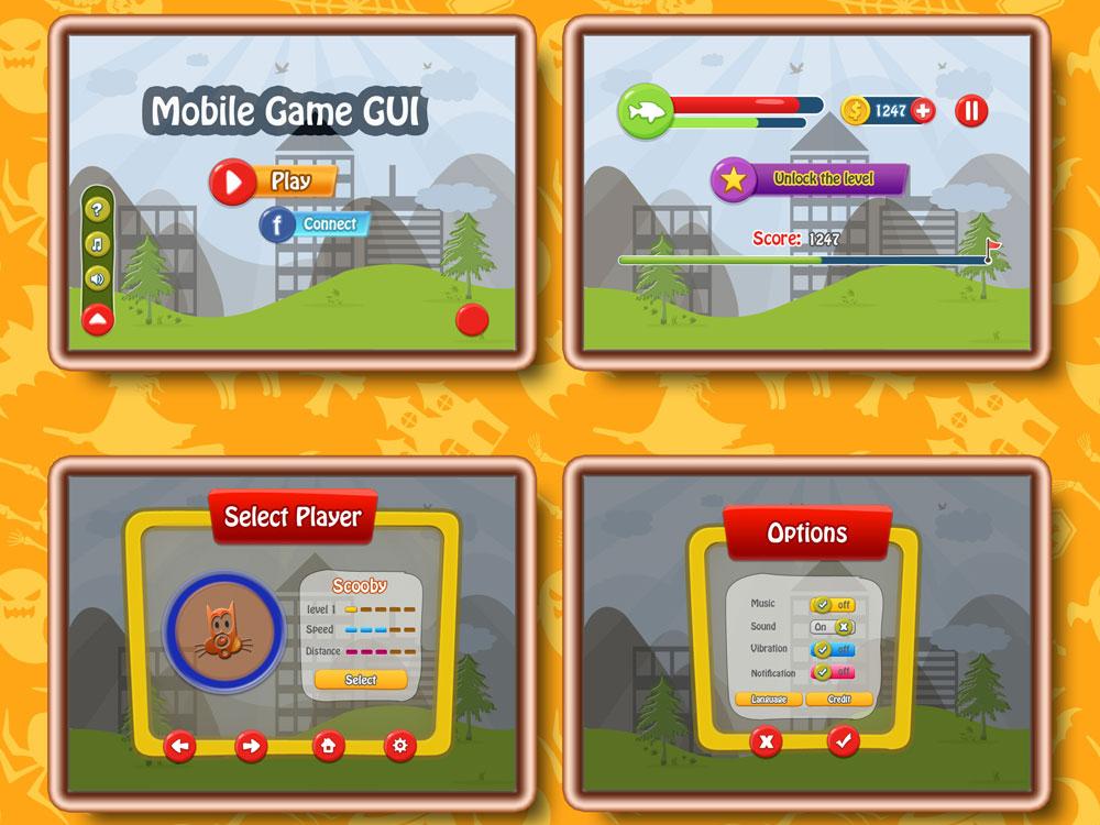 Mobile Game GUI Free Download by Himanshu Gautam on Dribbble