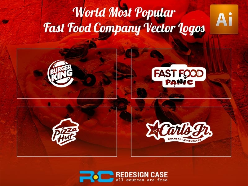 World Most Popular Fast Food Company Vector Logos animation register illustration vector icon psd android ios web login logo website profile booking app user profile ui free psd android app app design