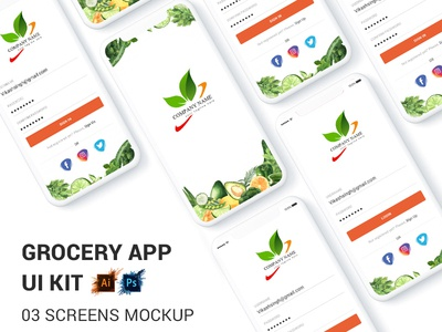 Fruit And Vegetables Shop Ui Concept Design PSD profile web website logo booking app user profile free psd android app app design