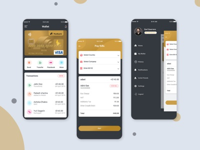 Bill Payment Ui Design Concept PSD mobile-ui android login profile logo booking app user profile free psd android app design bill payment ui bill payment ui