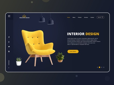Best Interior Design Website Templates PSD illustration web website ui user profile free psd android app app design