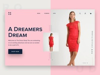 Roud E-Commerce Landing Page Design