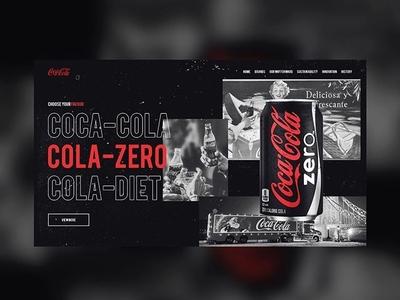 Coca Cola Homepage Concept