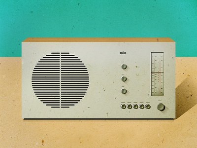 Dieter Rams Radio - First Shot! dieterrams radio illustration 60s knobs dials form function retro vintage audio