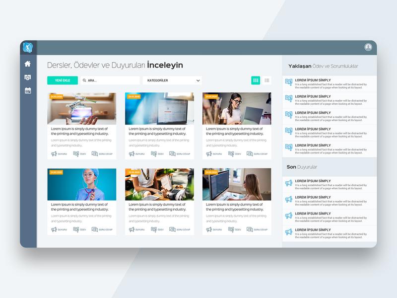 E-Learning portal ui design dashboard design illustrator dashboard ui ux webdesign web interaction design ui design