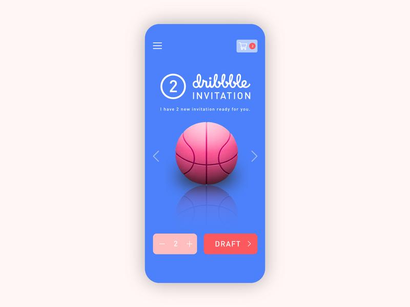 Dribbble Invitation draft invitation invite ui design ui illustrator dashboard ui logo dashboard design webdesign interaction design