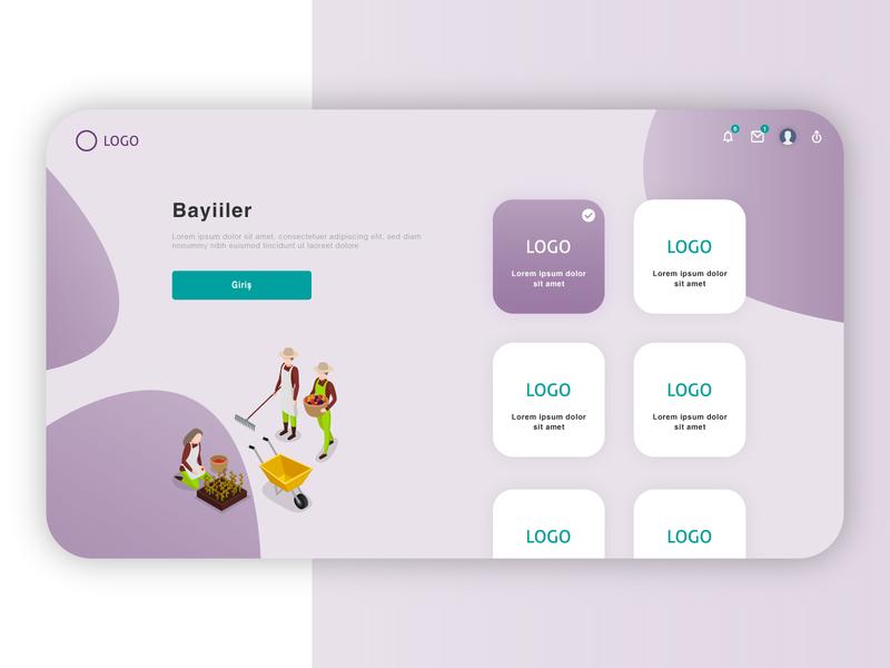 Dealer Entrance vector portal illustrator ux dashboard ui webdesign web interaction design ui design