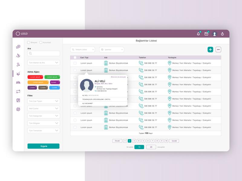 Contact List ui design dashboard design illustrator dashboard ui ux webdesign web interaction design ui design