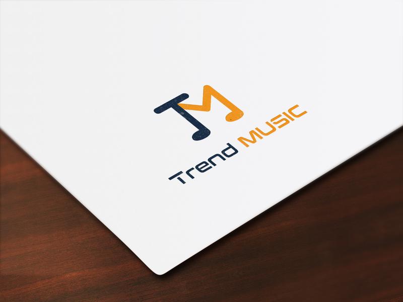 Trend Music Logo typography corporategifts modern corporateevents corporatestyle design corporate branding branding agency logo brandingdesign clean unique corporate brandingagency branding101 branding music artwork music app