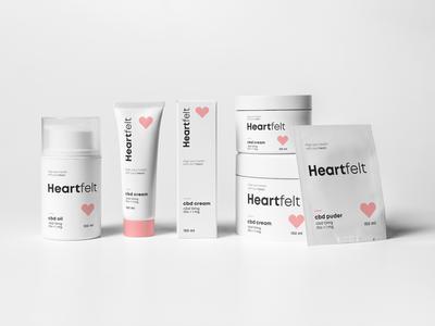 Healthcare Packaging Feminine ui design branding design logo heart healthcare wellness health packaging heart logo