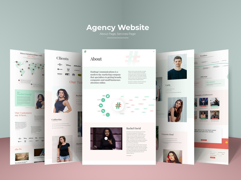 Agency Website About and Services Page design branding ui design portfolio design portfolio page portfolio site aboutus about page portfolio agency website services about