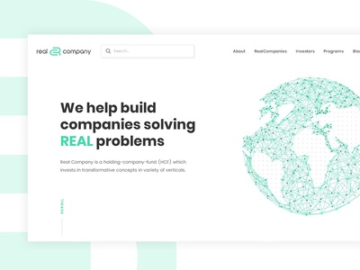 Venture Capital Company Website - Homepage