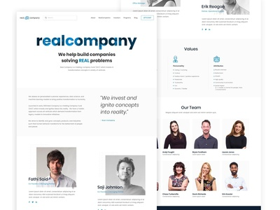 Venture Capital Company Website - About Page