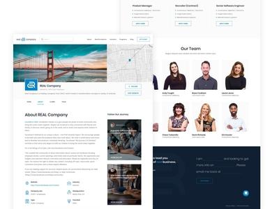 Venture Capital Company Website - Info Page