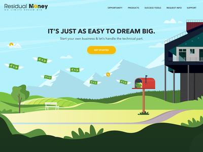 Residual Money Landing Page