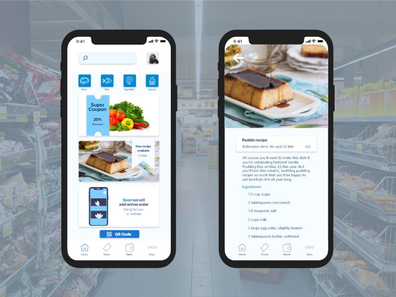 Supermarket app digital design interface user adobe xd xd adobe supermarket ux ui app