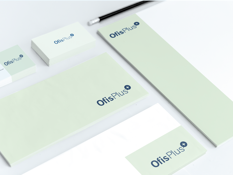 Ofis+ Stationary flat simple branding logo