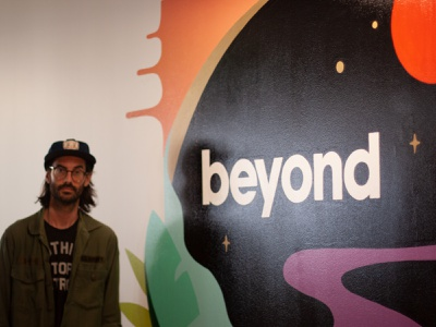 Beyond Mural surrealist surrealism branding mural design murals painting muralart illustration handpainted muralist mural