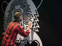 Bear and Salmon mural