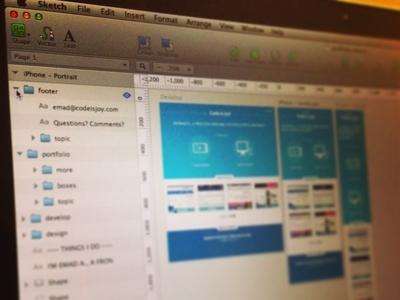 Responsive Design site responsive sketch