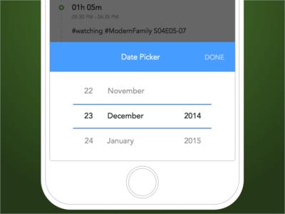 Duraation - Date picker for activities list