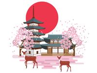 04 Nara Park. Japan travel set