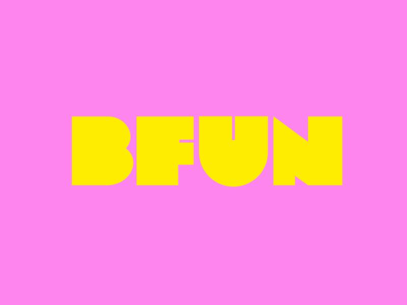 BFUN Wordmark fashion design type logo lettering logotype branding