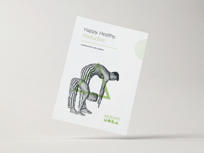 Yoga Flyer fitness green branding abstract minimal clean collateral flyer yoga
