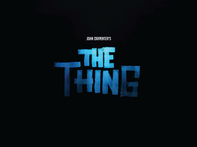 The Thing Title movies digital lettering digital brush sci-fi horror the thing lettering