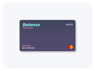 Balanse - Virtual Card Component component payment card design card