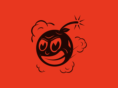 Cherry Bomb bomb cherry red alcohol icon illustration character
