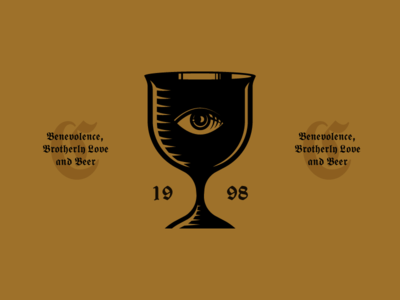 Benevolence, Brotherley Love and Beer icon illustration beer