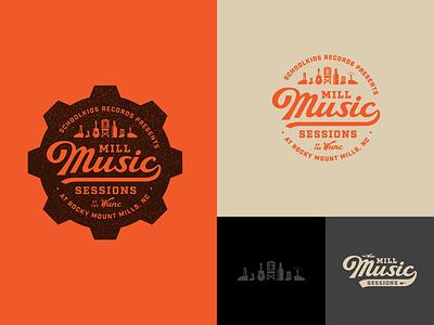 Mill Music Sessions branding music logo