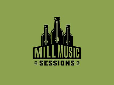 Mill Music Sessions v2 branding logo beer music