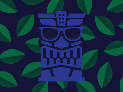 Sunglasses at Night sunglasses tiki illustration