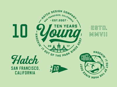 Slugger typography sf badge anniversary