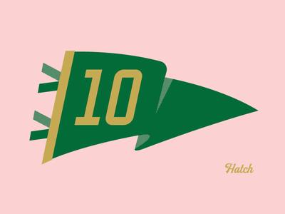Yay Hatch print flag pennantflag typography