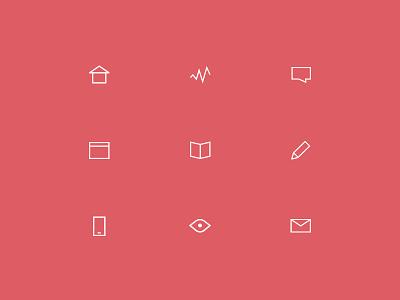 Minimal line Icons minimal line flat clean simple menu icon set symbol angle stroke angular