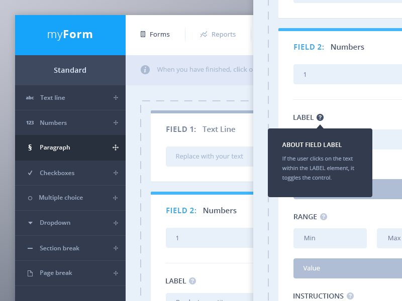 Form fields UI by Vincent Tantardini - Dribbble