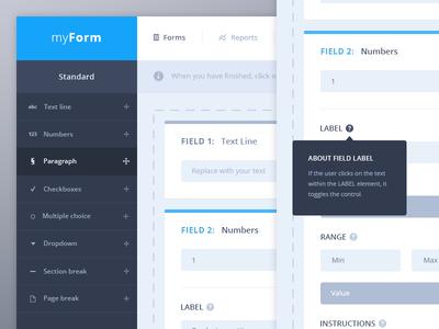 Form fields UI