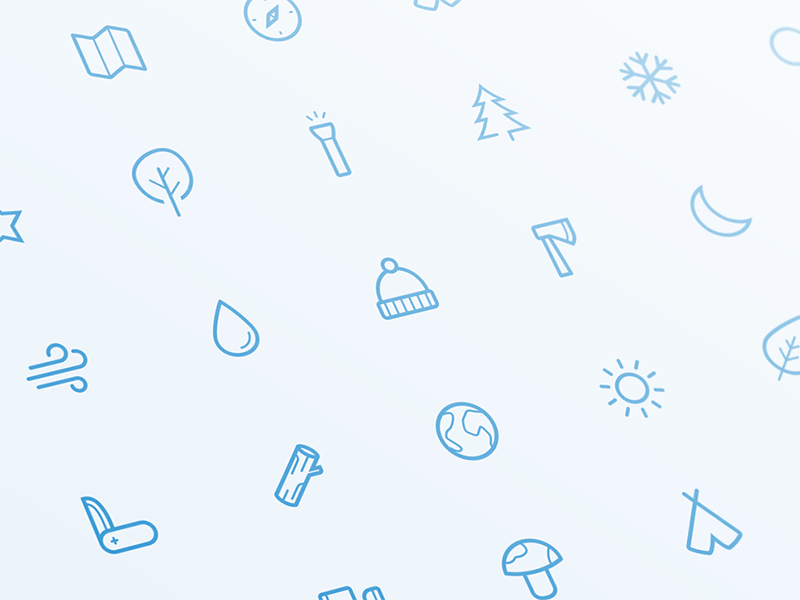 Outdoor Icons freebie wood set icon sketch free freebies wild trip minimal adventure camping