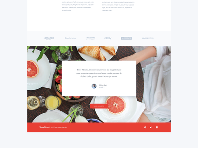 Housekitchen Footer testimonials image chef cook food white red clean webdesign