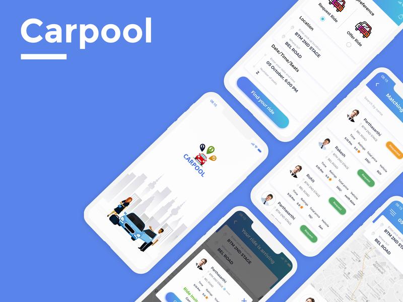 Carpool Application by ArpithaPrakash on Dribbble