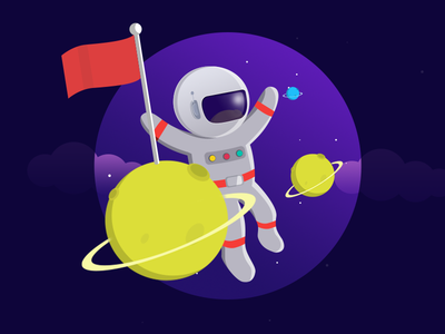 Astronaut Illustration