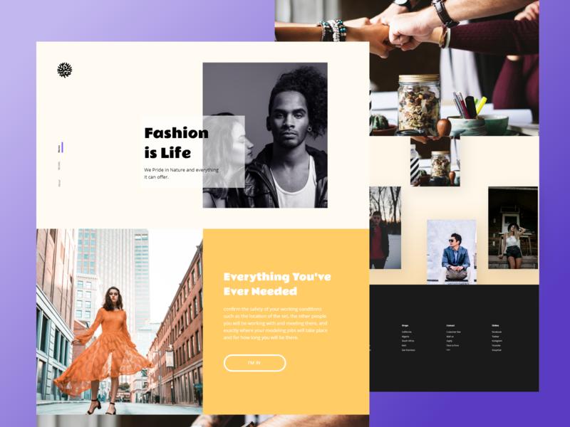 Fashion Agency Landing Page yellow ux ui fashion ecommerce daily branding